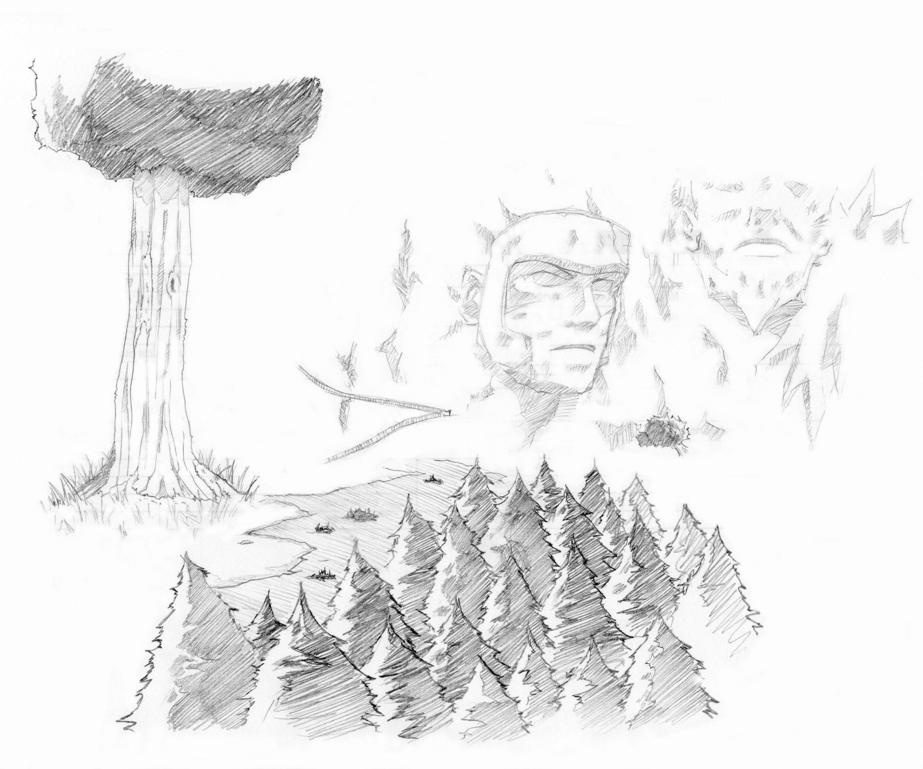 Le monde de naruto crayon at the edge of the worlds - Dessin naruto manga ...